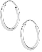 .925 Sterling Silver Small 1.3cm Hypoallergenic Hoop Earrings for Women