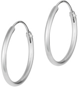 .925 Sterling Silver Hypoallergenic 1.6cm Hoop Earrings for Women