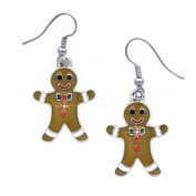 cocojewelry Gingerbread Man Cookie Charm Earrings Gift for Bakers