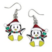 cocojewelry Santa Hat Penguin Dangle Earrings Christmas Holiday Jewellery