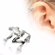 Tree Frog Fake Cartilage Ear Cuff Stainless Steel