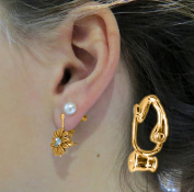 Evelots 12 Piece Gold Clip-On Earring Converter Turn Any Post/Stud Into Clip-On