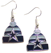NFL Officially Licenced Dallas Cowboys Beanie Style Dangle Earrings