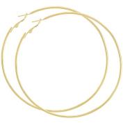 Gold Tone Hoop Earrings 7.6cm Hoop Earrings Thin Hoops