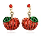 cocojewelry Pumpkin Dangle Earrings Thanksgiving Halloween Jewellery
