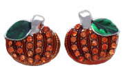 cocojewelry Small Pumpkin Stud Post Earrings Thanksgiving Halloween Jewellery