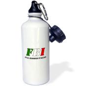 3dRose FBI Full Blooded Italian, Sports Water Bottle, 620ml