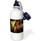 3dRose Red Knight Horseback Banner, Sports Water Bottle, 620ml
