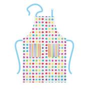 """PPD 1522351, cotton kitchen apron - double pockets chef - pantone """"Watercolours Spots & Stripes"""""""