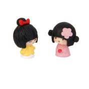 Foopp Miniature Kimono Girls Garden Landscape Bonsai Decor Craft Gift