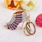 Philna12 Rhinestone High Heel Pendant Charm Keyring Keychain with Lobster Clasp