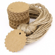 100pcs. Blank brown kraft paper gift tags for wedding birthday gift card albums DIY label