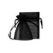 100 Black jewellery wedding organza gift bags 7 x9 cm distribute
