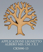 Pack of 50 Pieces, Application Tree of Life, Party Favours Legnetto, Size 3 X 3 CM, for placeholders, Composition Confetti.