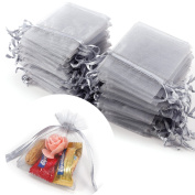 100x Luxury Organza Gift Bags Jewellery Pouch Xmas Wedding Party Candy Favour