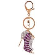 Omeny High Heel Rhinestone Keychain Accessories