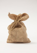 LINEN HESSIAN FAVOUR GIFT BAGS PACK OF 5 WEDDING FAVOURS GIFT BAGS WRAPPING