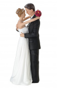 Lillian Rose 17cm x 5.7cm Bride & Groom Caucasian Figurine Cake Top