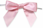 50 x MINI SATIN RIBBON BOWS + Twist Ties for Sweet Treat Gift Bag Wedding Favours