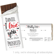 Personalised I Love You More Than Chocolate Bar Personalised This I Love You More Than Chocolate