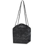 CLUB GREEN Pearlised Flower Bag, Black, 18 x 18 x 18 cm