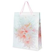 CLUB GREEN Floral Bag, Pink, 25 x 32 x 9 cm