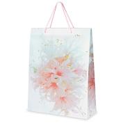 CLUB GREEN Floral Bag, Pink, 30 x 40 x 10 cm