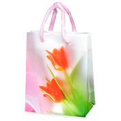 CLUB GREEN Tulips Mini Gift Bag, Orange, 8 x 10 cm