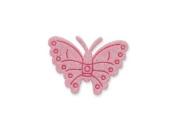 CLUB GREEN Self Adhesive Glitter Butterfly, Pink, 12 per sheet