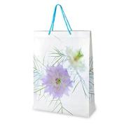 CLUB GREEN Floral Bag, White, 30 x 40 x 10 cm