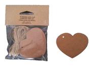 25 Kraft Labels Heart