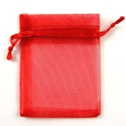 100 Organza Bags Wedding Favour Bags Red by Flyyfree