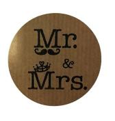 100 Labels Kraft Mr. & Mrs. For Your Wedding Details
