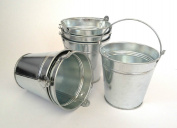 Small Metal Buckets Party Shabby Wedding Favours Crafts Chips
