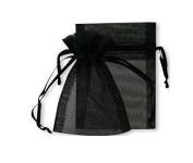 Liroyal 50pcs jewellery wedding organza gift bags Black
