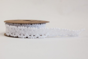 WHITE LACE RIBBON18MM X 3YDS WRAPPING CRAFTS WEDDING stationery DECOR APAC