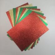 Christmas Glitter Card Pack x 10 From Pocketfold Invites LTD