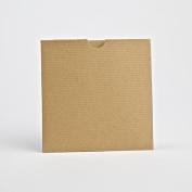 Kraft Matte Wallet Invites 125mmx125mm From Pocketfold Invites LTD