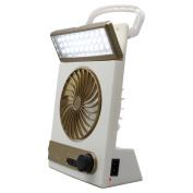 Lilyeyes Portable Rechargeable Solar Emergency Camping Tent Fan Flashlight Light Lantern