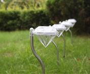 Huanger 4pcs Outdoor Solar LED Powered Light Wall Path Landscape Garden Mount Fence Lamp