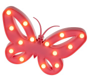 Completes Any Chic Bedroom - Pink Plastic Butterfly LED Light Lamp - Top Selling Ideal Fun Toys & Games Present Gift Idea for Christmas Xmas Stocking Filler Top Ups Birthdays Easter Rewards Treats Pocket Money - Girls Children Kids Girl Child Age 5+ On ..