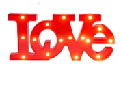Decorative and Fun Red 'LOVE' Plastic Light Up Sign