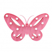 Contemporary Battery Operated LED Decorative Light Night LED Night Lights Warm White Light Bedroom Wall Lamps Home Decotations Pink Butterfly Shaped
