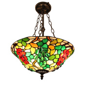 Gweat European Pastoral Style Tiffany 41cm Handmade Stained Glass Gorgeous Pendant Lamp Dining Room Light