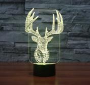 Exoticbuy Colour Changing Christmas Reindeer Elk 3D Visual LED Light Motif Lamp
