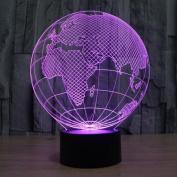 Exoticbuy Colour Changing Europe Map Globe 3D Visual LED Light Motif Lamp