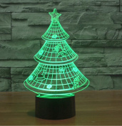 Exoticbuy Colour Changing Christmas Tree 3D Visual LED Light Motif Lamp