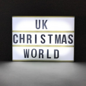 Large Battery Powered Novelty White LED Light Box with Black Letters