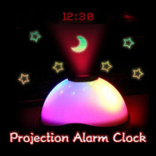 Wildeal Starry Digital Magic LED Projection Alarm Clock Night Light Colour Changing