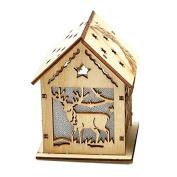 Warm Light Pendant Decoration Special Log Cabin for Christmas Scene Collocation